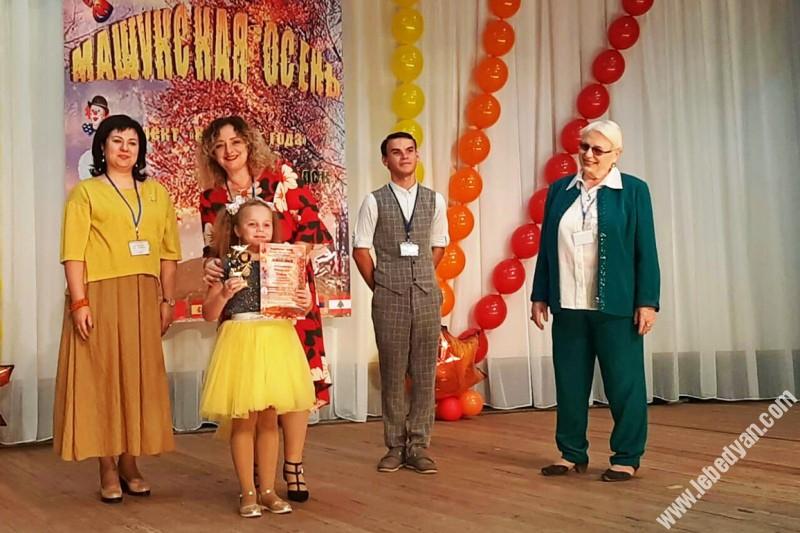 София Новикова из Лебедяни на конкурсе в Пятигорске