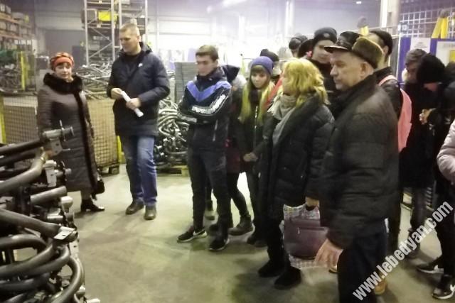 Студенты торгово-экономического техникума побывали с экскурсией на заводе СтройМаш
