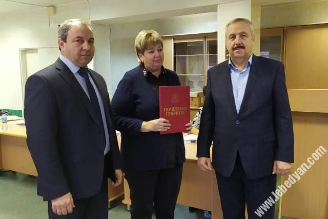 А.Н. Кремнева наградили грамотой