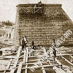 строительство моста в Лебедяни в 1910 году