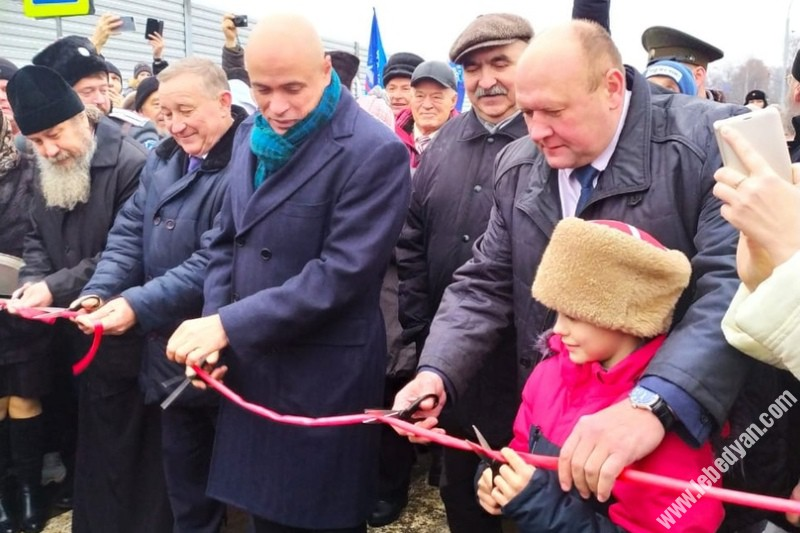 В Лебедяни открыли новый мост через реку Дон
