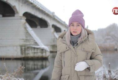 Ольга Звягина и Казенный мост в г. Лебедянь