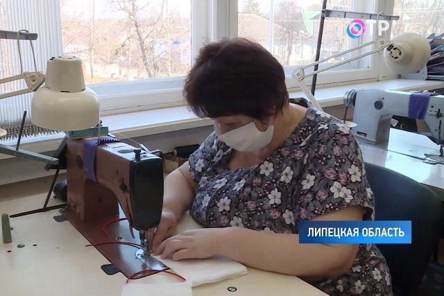 В Лебедянском Доме быта стали шить марлевые маски