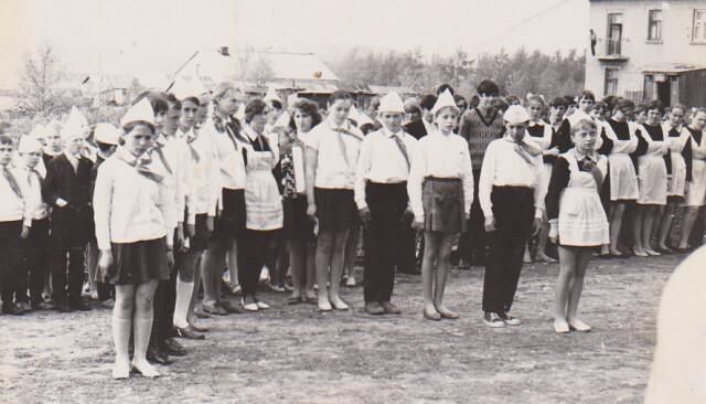 Открытие обелиска в селе Большое Попово (1970)