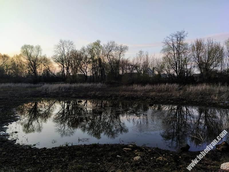 Кузнецкий пруд в Лебедяни (апрель 2020)