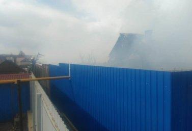 пожар в доме на улице Ворошилова в Лебедяни