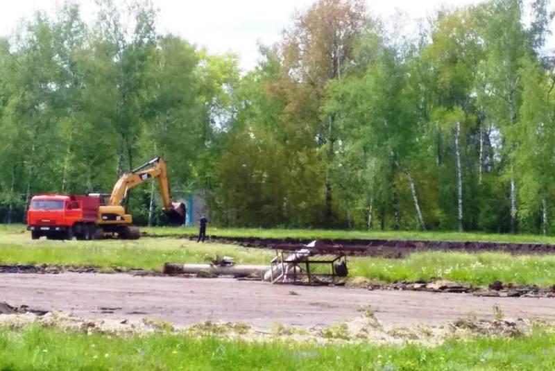 В поселке Агроном начали строить новый стадион