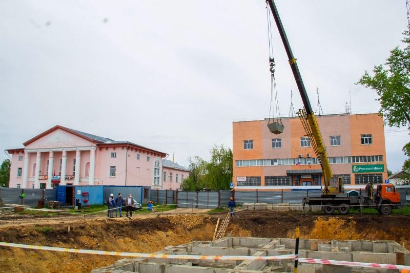 В Лебедяни строят Дворец бракосочетаний