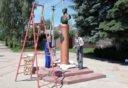 памятник П.Н. Черменскому в Лебедяни (2020)