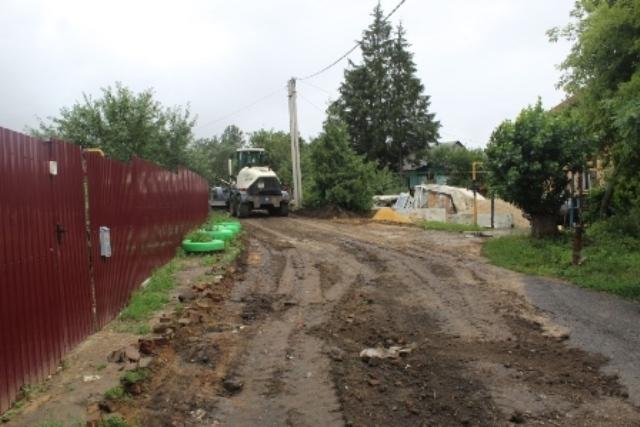 асфальтирование улиц в г.Лебедянь (июль 2020)