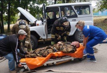 Тренировка экстренных служб в Лебедяни