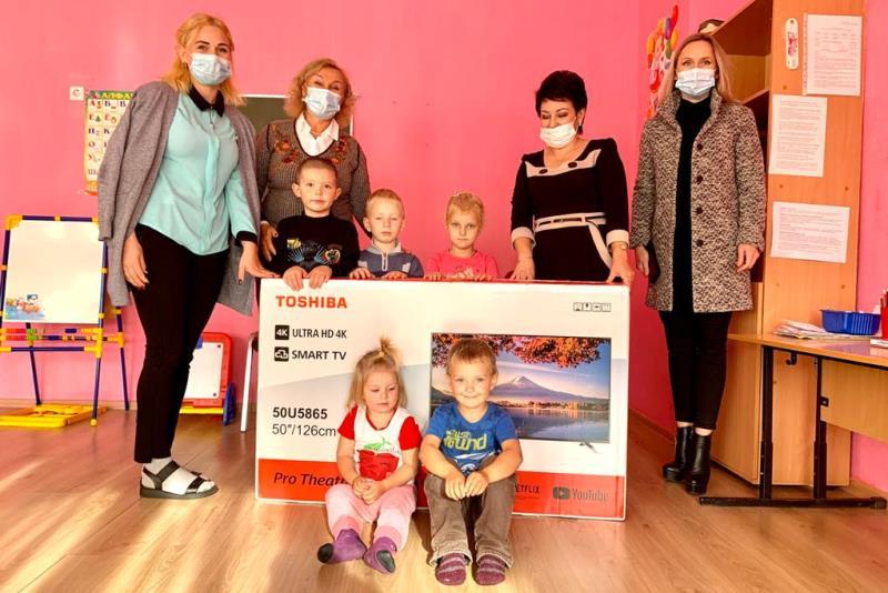 детскому саду села Вязово подарили телевизор