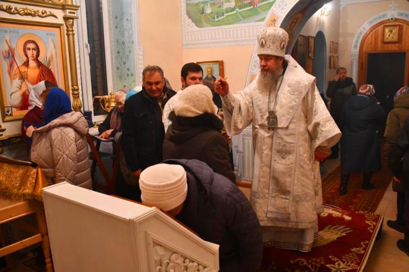 епископская служба в селе Вторая Куликовка