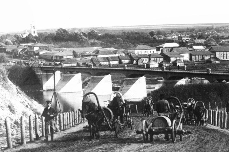 Лебедянь. Казенный мост через Дон. Фото 1910-х годов