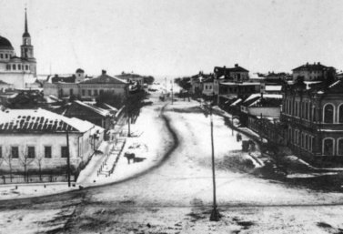 Христорождественская улица в г. Лебедянь. 1910-е гг.