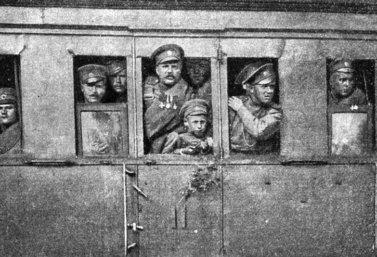 На фронт Первой мировой войны