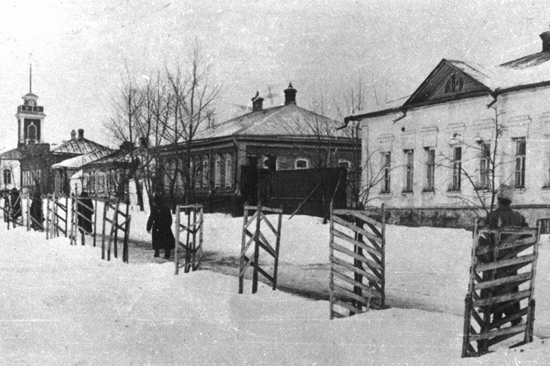 Дворянская улица в Лебедяни. 1910-е годы
