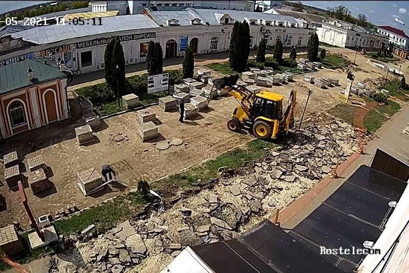 кадр с камеры видеонаблюдения Лебедянь