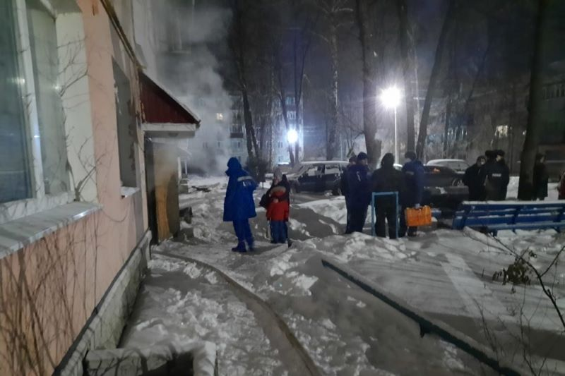 пожар в подвале двухэтажки в Лебедяни