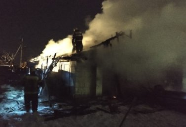 пожар на улице Горького в Лебедяни 25 февраля