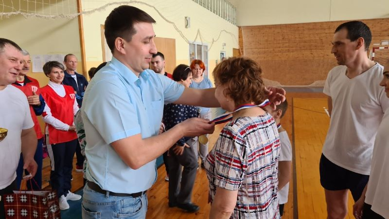 Семья Ворониных - победитель семейного фестиваля ГТО в Лебедяни