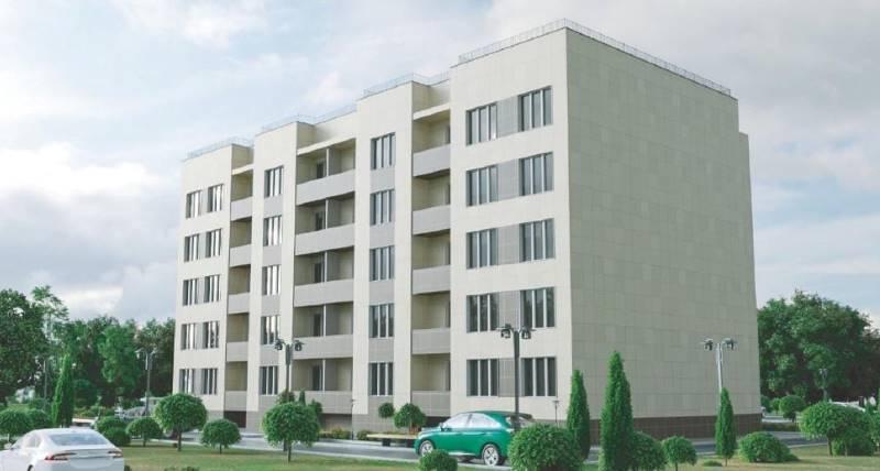 Новый дом на улице Машиностроителей в Лебедяни (эскиз)