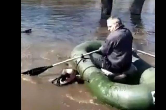 спасли рыбака