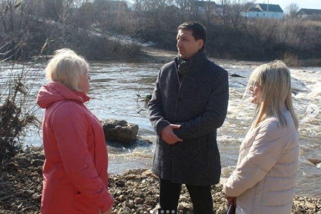 Роман Панфилов инспектировал ситуацию с половодьем в Лебедянском районе