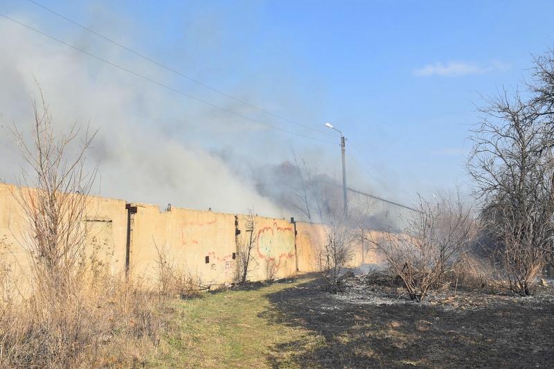 возгорание в Лебедяни 14 апреля