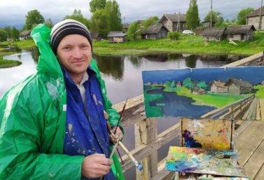 Лебедянский художник Петр Космаков возглавил всероссийский пленэр в Каргополе