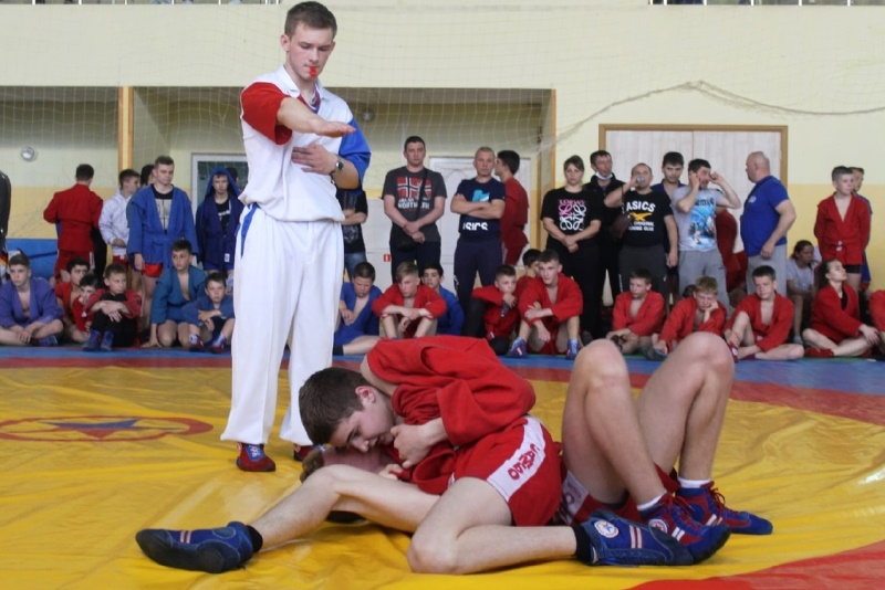 Соревнования по самбо в Лебедяни