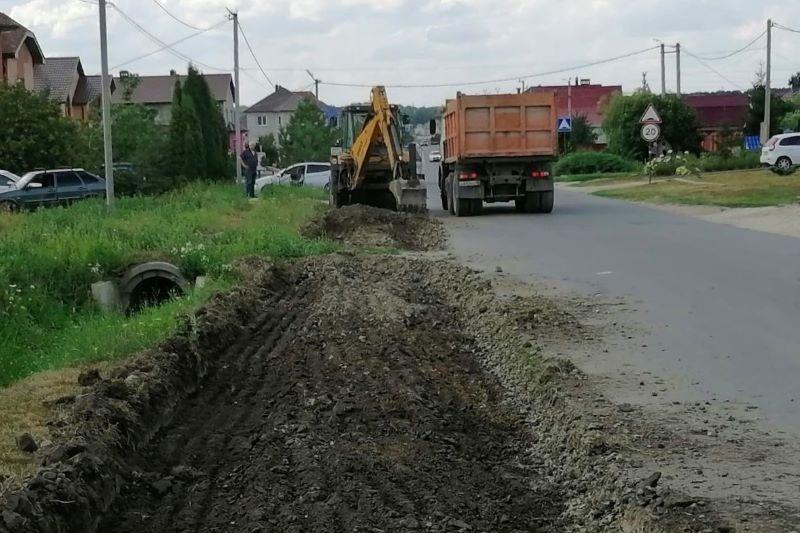Реконструкция тротуара на Беговой улице в Лебедяни