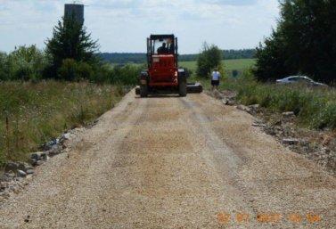 Отремонтировать дорогу в Лебедянском районе помог Общероссийский народный фронт