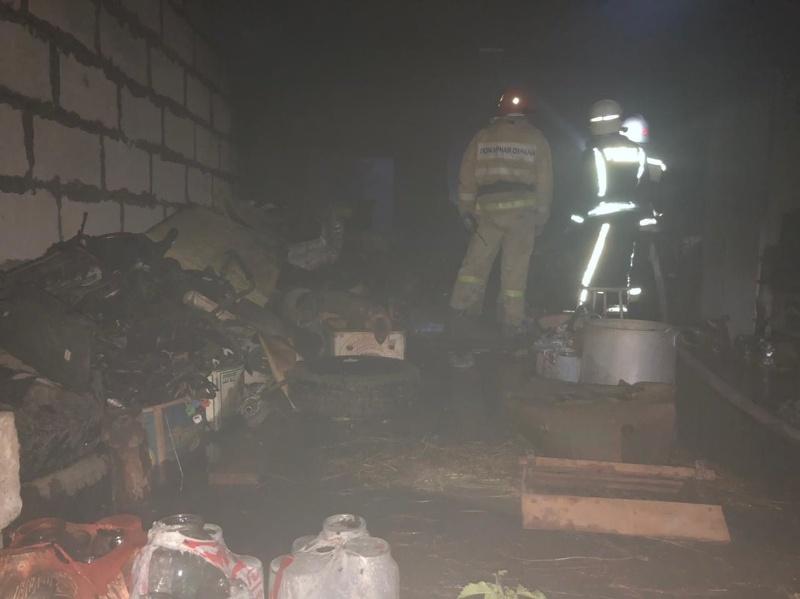 5 июля в Лебедяни горел гараж