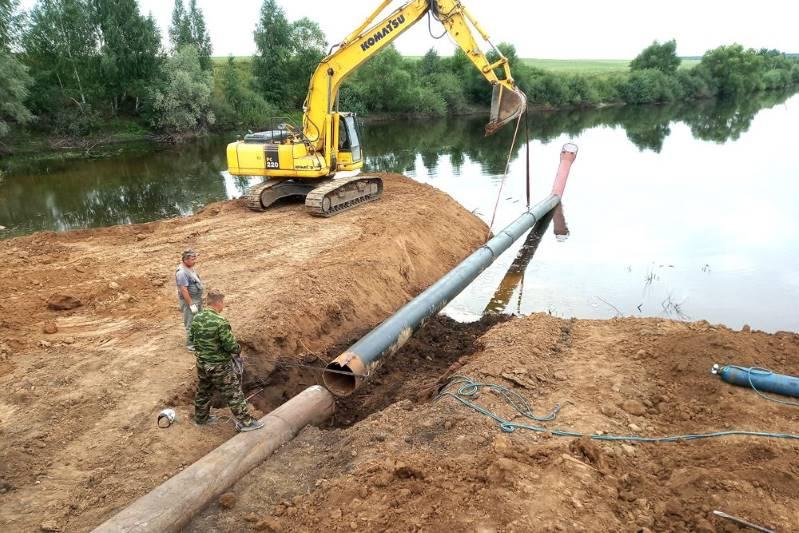 В селе Большие Избищи реконструируют плотину пруда