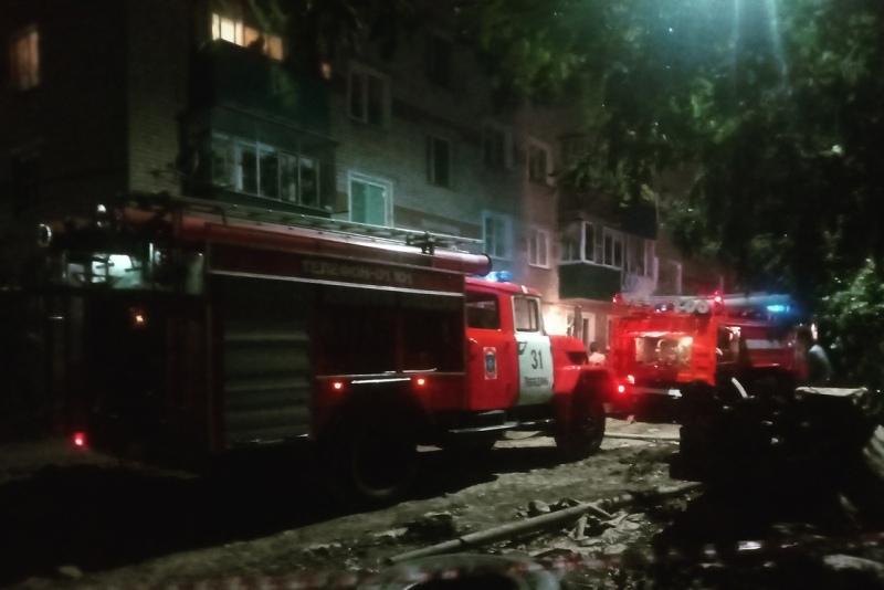 Ночной пожар на Крупской