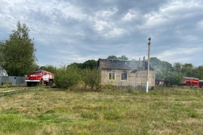 В д. Старый Копыл горел дом