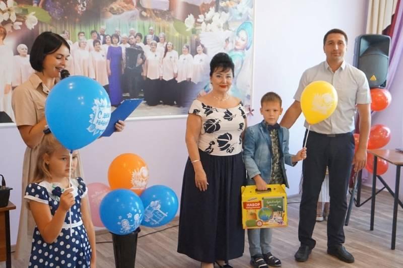 Торжественный приём первоклассников из малообеспеченных семей в Лебедяни
