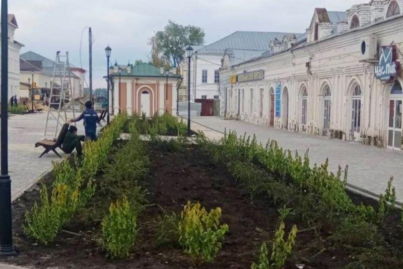 Благоустройство улицы Мира в Лебедяни