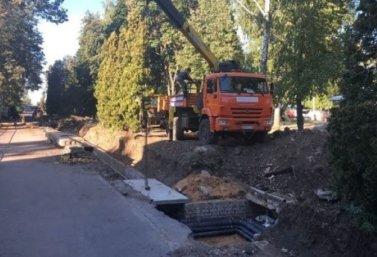 На улице Крупской в Лебедяни завершается реконструкция теплосети