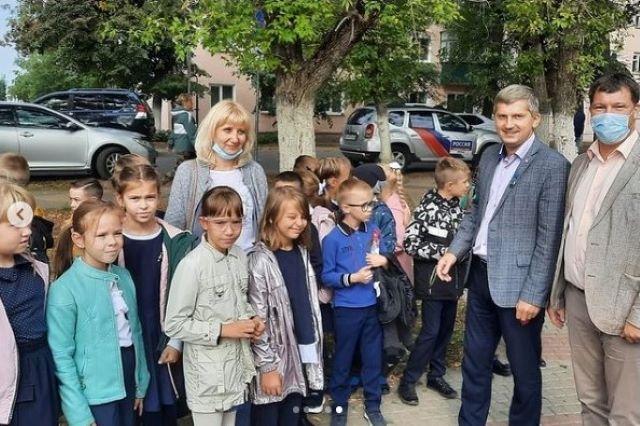 В Лебедяни после реконструкции открыли сквер на улице Машиностроителей